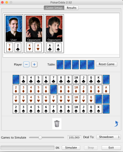PokerOdds calculator