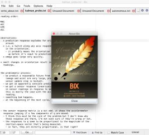 Bix: A text editor